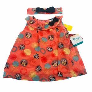 18 Month NWT Disney Minnie Dress & Headband